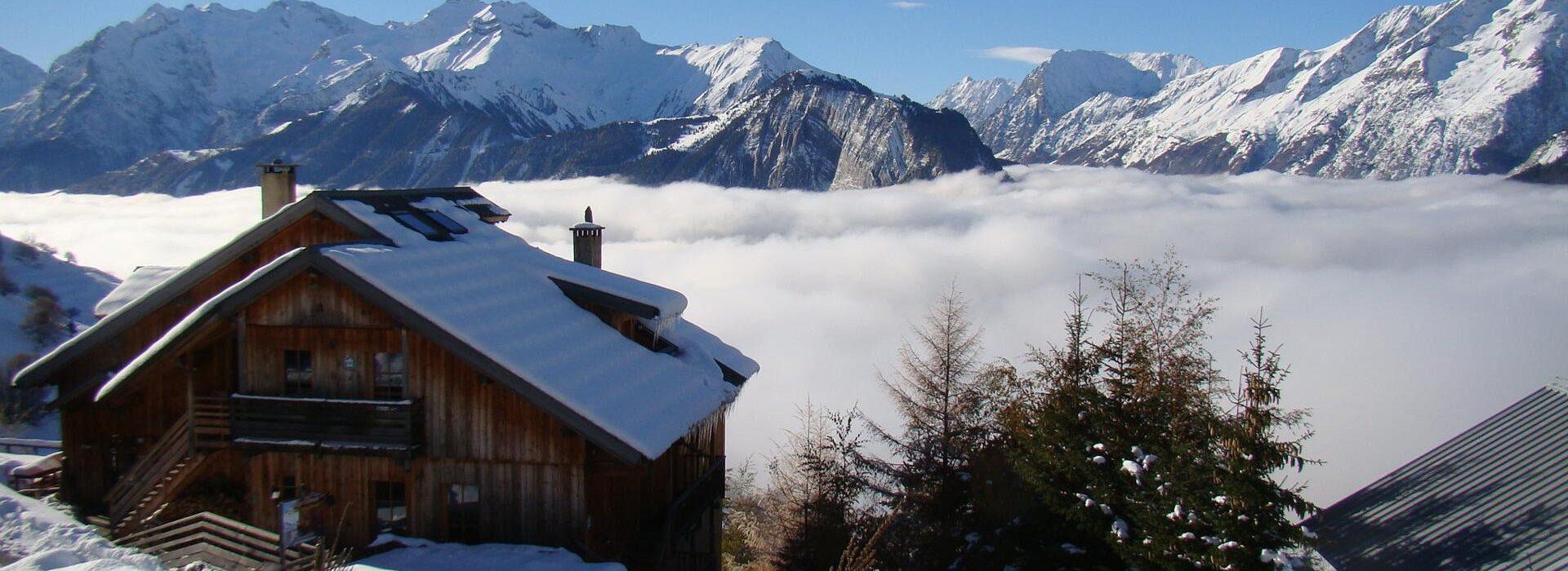 Chalet en bergen